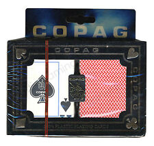 COPAG ALO BRAZIL PLASTIC POKER PLAYING CARDS 2 POKER DECKS JUMBO INDEX *