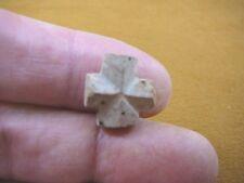 "(CR592-12) 1/2"" PETITE Fairy Stone CHRISTIAN CROSS Staurolite Crystal MATRIX"