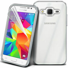 ULTRA Sottile Chiaro TPU GEL SKIN CASE COVER & Pellicola per Samsung Galaxy Core primo