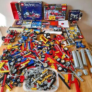 HUGE Vintage LEGO Technic Job Lot 3KG+ Inc 8842 8040 8030 8810 8020 Manuals Etc