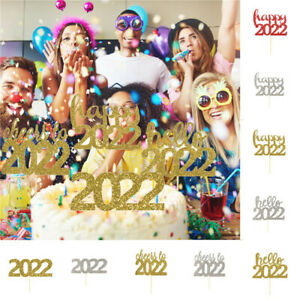 Cake Topper Letter Glitter Paper Decorative Cake Topper for NEW YEAR Decor^