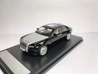 1/64 Scale Rolls-Royce Ghost Extended Wheelbase Black/Silver Diecast Car Model