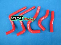 FOR Honda CR125 CR 125 R CR125R 2003 2004 03 04 silicone radiator hose RED