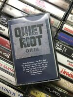 1986 Quiet Riot QR lll Used Cassette Tape Heavy Metal Music CBS