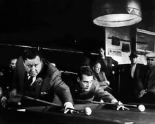 1961 Film Actor PAUL NEWMAN & JACKIE GLEASON Glossy 8x10 Photo THE HUSTLER Print
