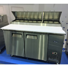 "New 67"" Refrigerated Pizza Prep Table 2 Doors 9 Pan Free Shipping Free Lift Gate"