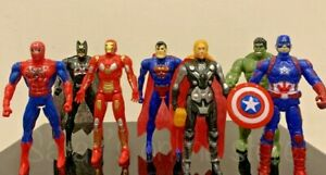 7pc Avengers Figures Super Hero Incredible Action Figures W/ LED LIGHT Gift Set