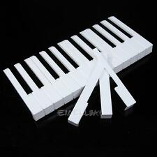 New 52 Pcs White ABS Plastic Piano Keytops Kit with Fronts Replacement Key