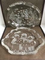Mikasa Holiday Christmas Sweet Dishes Set of 2 Germany Beautiful Dishes