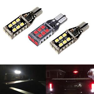 2 White 1 Red 912 LED Cargo 3rd Brake Light Bulbs for 2000-2020 Toyota Tundra