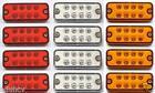 12 x 12V LED feu de position Rouge Ambré blanc CLIGNOTANTS CAMION CARAVANE