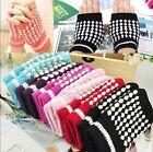 Cute Knitting Woolen Crochet Braided Wrist Hand Mitten Fingerless Warmer Gloves