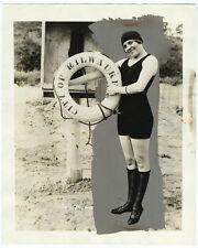 Photo rehaussée/ Miss Milwaukee en maillot de bain 1924 Mode natation nageuse