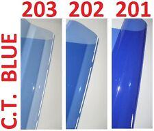 "3 X CTB BLUE Lighting Filter Gel Sheets 21"" x 48"" 201 202 203 1/4 1/2 FULL BLUE"