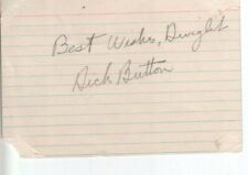 Dick Button Autographed Oversized 1950's Index Card Figure Skating Legend
