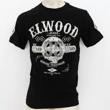 ELWOOD Mens 2020 Brand New Premium Top Tee T-Shirt  Size M L XL XXL fox black