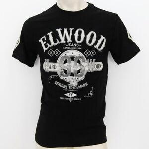 ELWOOD Mens 2021 Brand New Premium Top Tee T-Shirt  Size M L XL XXL fox black