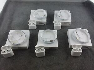 (Lot of 5) UNTESTED Apple AirPods 1st Gen. w/ Charging Case - Used