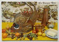 Le Faisan Roti Recette Roasted Pheasant Recipe Postcard (P343)
