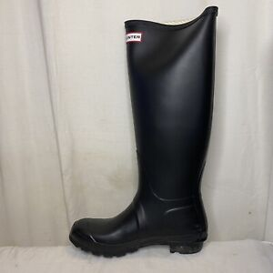 Hunter Original Tall Rubber Matte Black Rain Boots Women's Size US 8 EUR 39