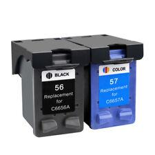 2x Cartridges Compatible For HP 56 57 XL Photosmart 100 120 230 7150 7350 7550