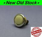 ⚪ Vintage Genuine Nutone Doorbell Push Button w/ Silver Anodized Bezel Rim - USA
