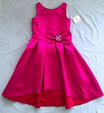 NWT ZOE LTD GIRLS PINK FUCHSIA HIGH-LOW DRESS SZ 14 ~ PARTY WOW! RRP $380.00