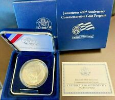 2007 P JAMESTOWN ANNIVERSARY Box & COA PROOF Coin 90% SILVER