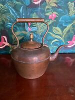 Vintage Antique Marque English Copper Stove Kettle Not Polished