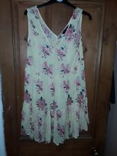 Ladies Atmosphere Casual Yellow & Pink Short Dress / Tunic Size 10