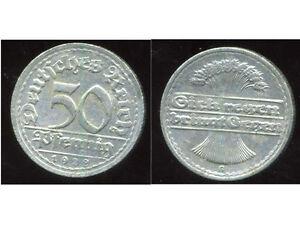 ALLEMAGNE GERMANY   50 pfennig 1922 G     ( etat )