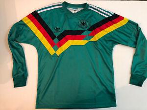 dfb deutschland Grün trikot 1990/91 Die Nationalmannschaft Matthäus Reproduktio