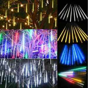 30/50cm US Plug LED Light Meteor Shower Rain 8 Tube New Snowfall Tree Outdoor