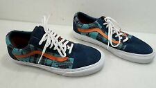 Vans Unisex Multicolor Canvas/Leather Lace-Up Sneakers Size 9M 10.5W