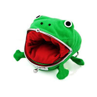1 pc Cute Green Frog Coin Bag Cosplay Props Plush Toy Purse Wallet Durable