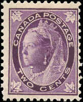 1897 Mint H Canada F Scott #68 2c Maple Leaf Issue Stamp