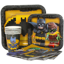 New Batman Lego Party Supplies Express Pack for 8 Guests (Cups Napkins & Plates)