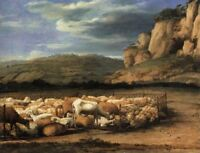 """perfect 36x24 oil painting handpainted on canvas """"sheep""""@872"""