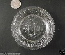 OLD FRANKLIN GLASS CUP PLATE  BOAT EAPG ?