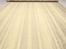 """Beige Cream Vervain Silk Drapery Stripes Fabric Leto Pebble 54""""W FC30"""