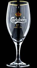 "Carlsberg Bier, Pokal-Glas, Bierglas mit Goldrand 0,4l ""Krone hinten"""