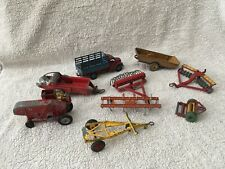 SELCTION OF VINTAGE DINKY FARM VEHICLES / TRAILERS / IMPLEMENTS ETC.
