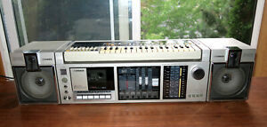 Vintage FISHER SC-300 w/ Synthesizer SCK-30 Cassette Deck Boombox SEE Video!