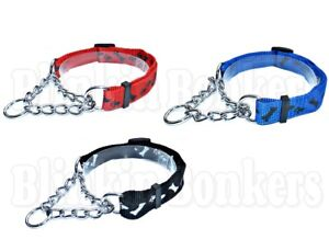 DOG ADJUSTABLE HALF SEMI CHOKE CHOKER CHECK CHAIN TRAINING TRAINER COLLAR 04A