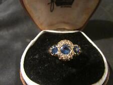Beautiful Edwardian Quality 18ct Gold, Sapphire & Rose Cut Diamond Ring,Birm1912