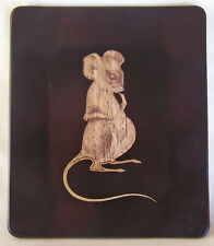 """Couroc Of Monterey Mouse Cheese Plate 7"""" High X 6 """" Wide"""
