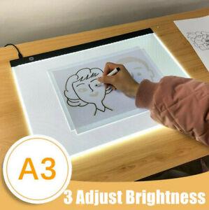A3 LED Drawing Board Tracing Light Box Tattoo Art Stencil UltraThin Lightbox Pad