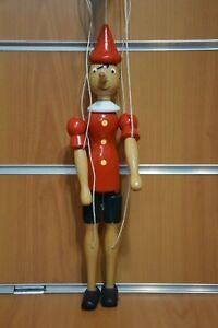 Pinocchio Marionetta Burattino Legno Dipinto a Mano 32 cm Made Italy Originale