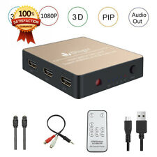 Dinger 3x1 HDMI Switch with Audio Extractor Converter Analog Optical Toslink...