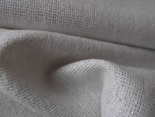 """By the Y Linen Cotton Lurex Fabric Apparel Bridal Novelty White Silver 46""""-60"""""""